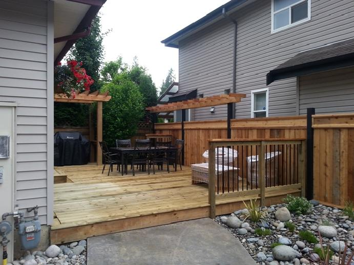 Ceder deck and fence
